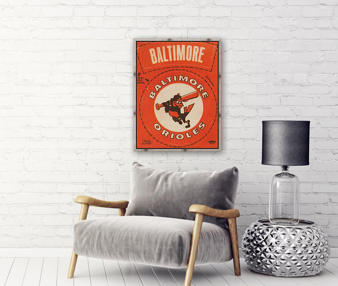 1969 Baltimore Orioles Fleer Cloth Patch Art | Row 1  Art