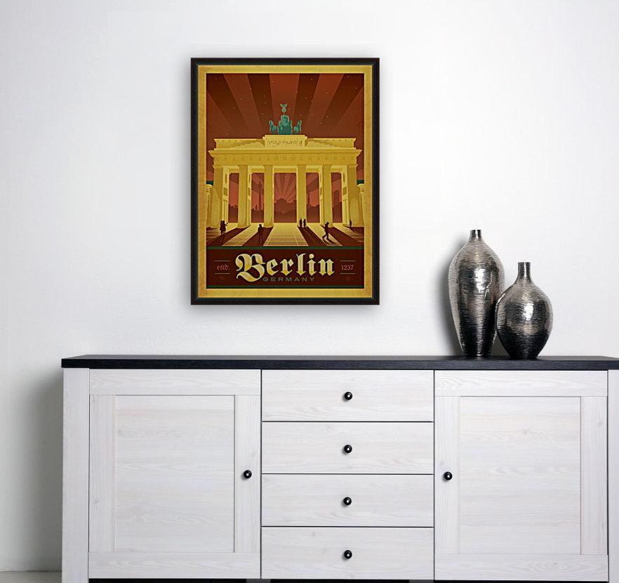 Berlin Germany travel poster  Art