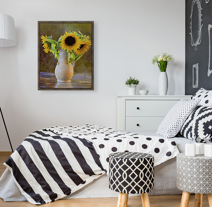 It's What Sunflowers Do - Flower Art by Jordan Blackstone with Floating Frame