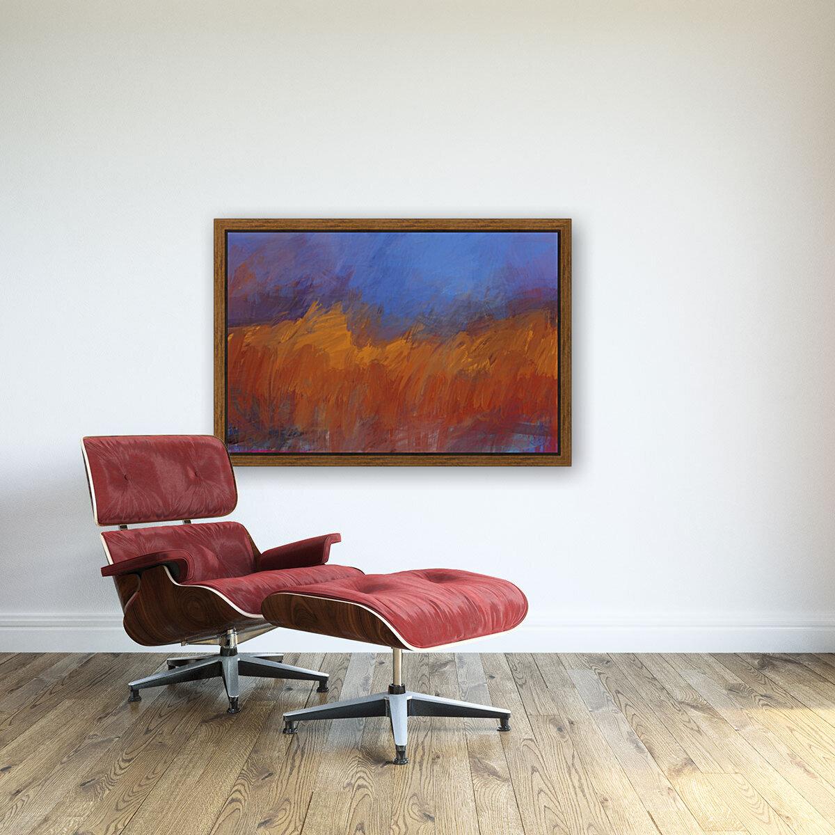 Orange and Blue Landscape  Art