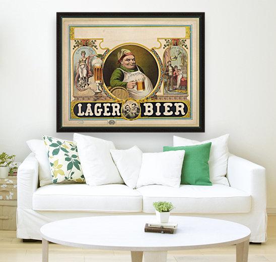 Lager Bier Vintage Poster  Art