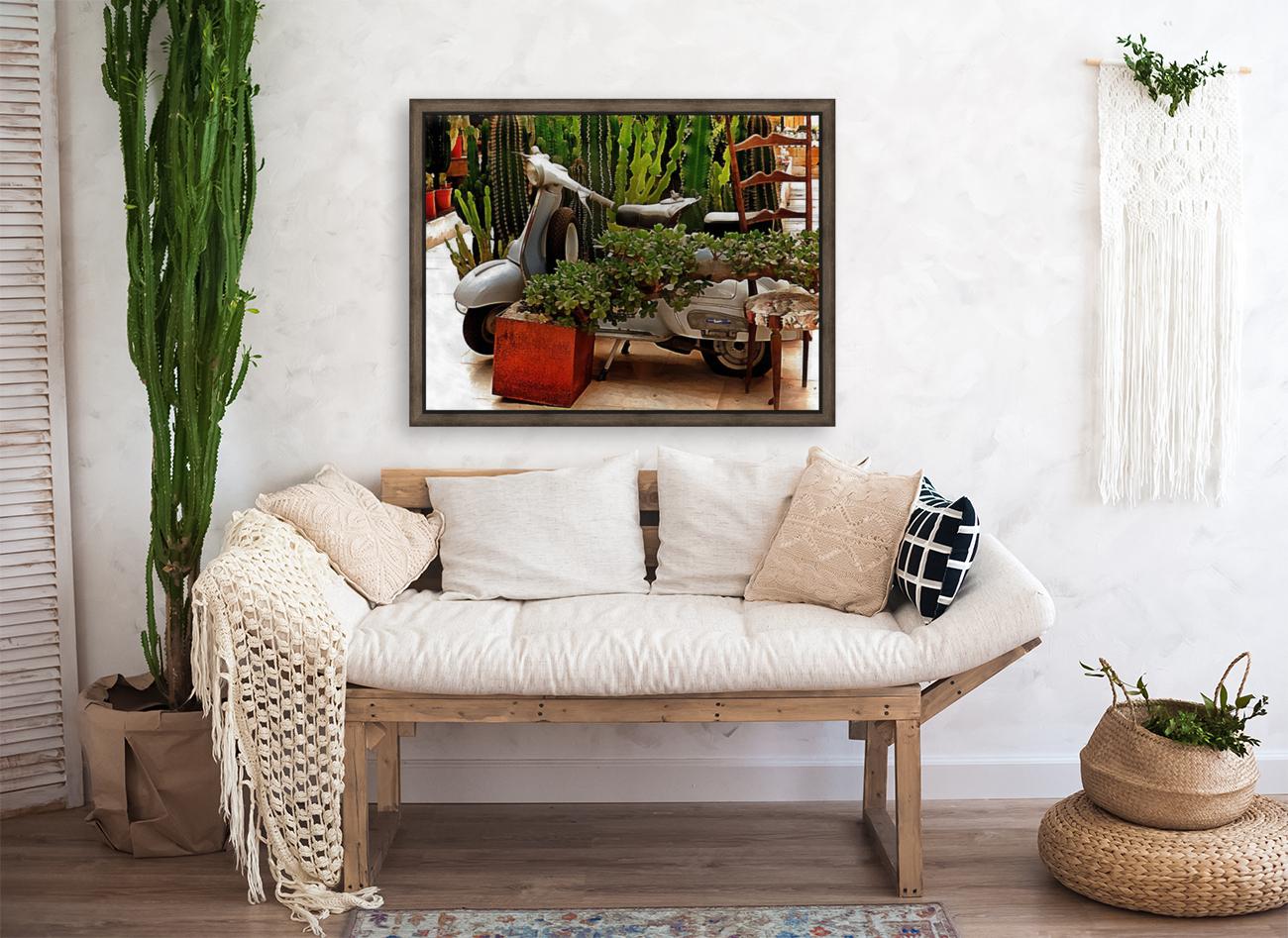 Vespa As Part Of Succulent Display  Art