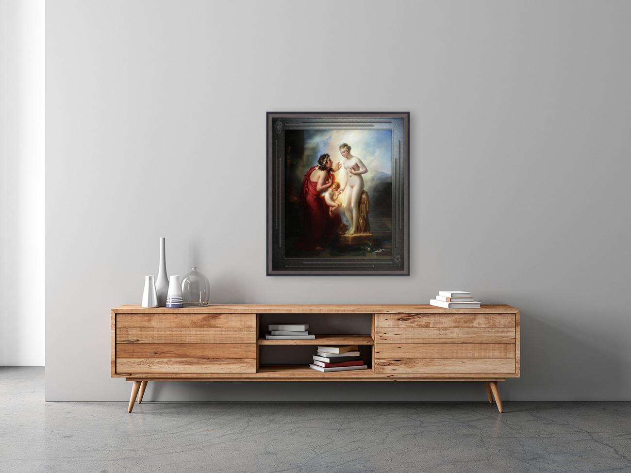 Pygmalion et Galatee byAnne-Louis Girodet-Trioson Classical Fine Art Xzendor7 Old Masters Reproductions  Art