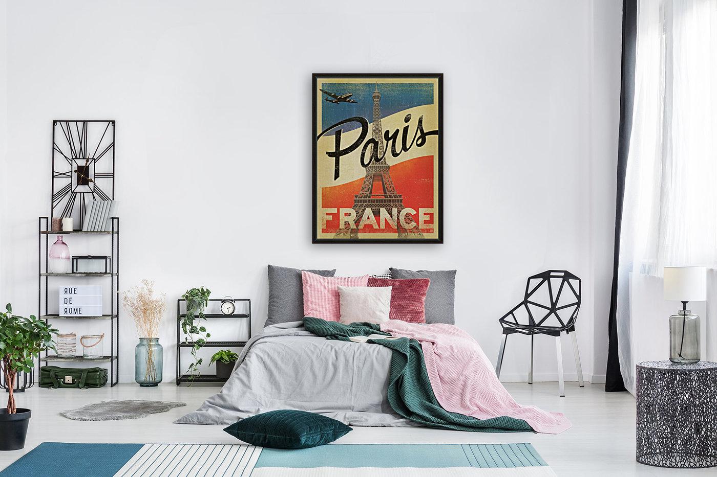 Paris France Vintage Poster  Art