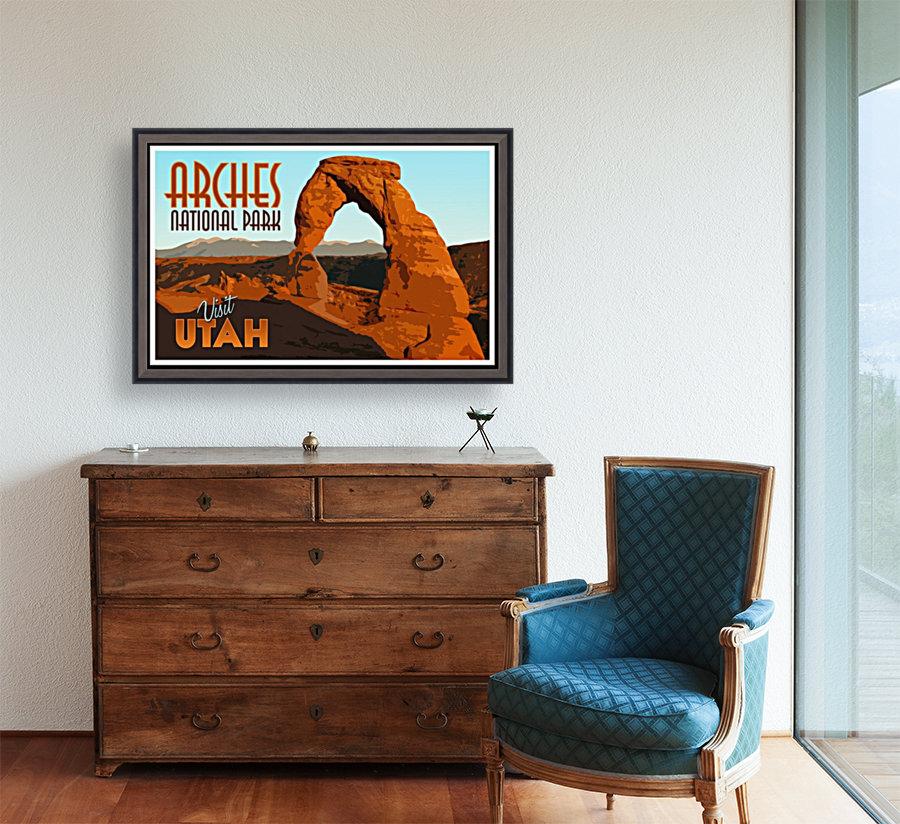 Visit Utah Vintage Tourism Poster for Arches National Park - VINTAGE ...