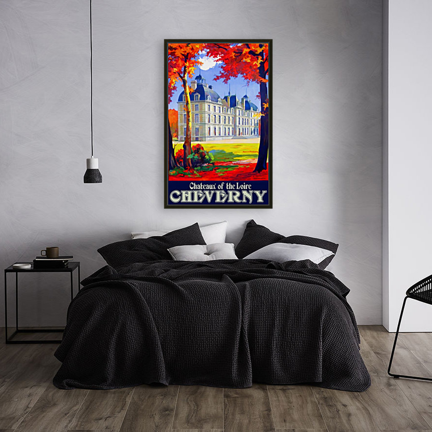 Chateaux of the Loire Cheverny travel poster  Art