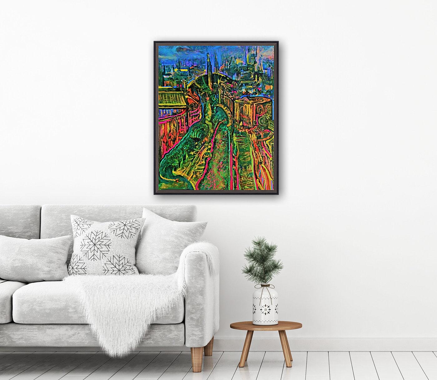 Vegetarian City Art Print  Art