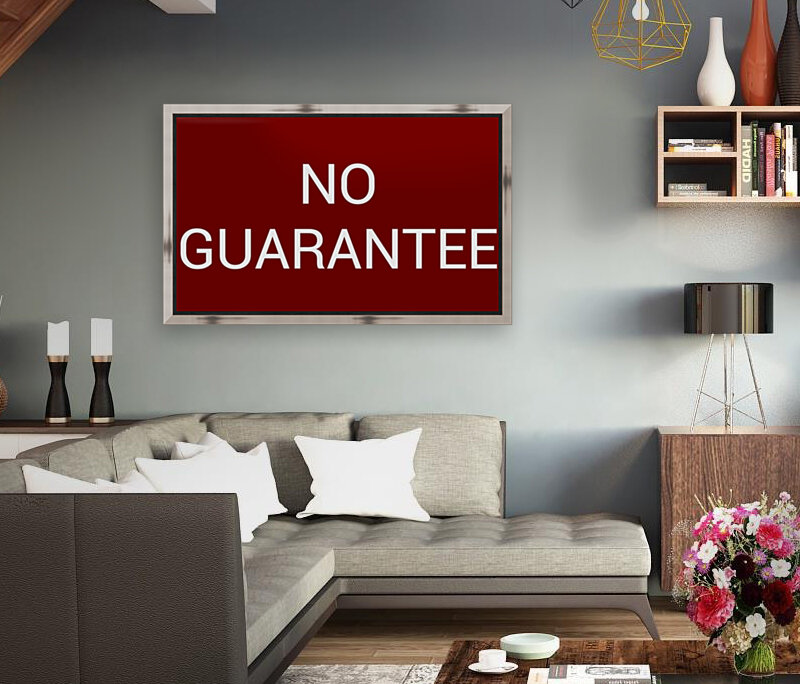 NO GUARANTEE blood red by Lenie Blue  Art