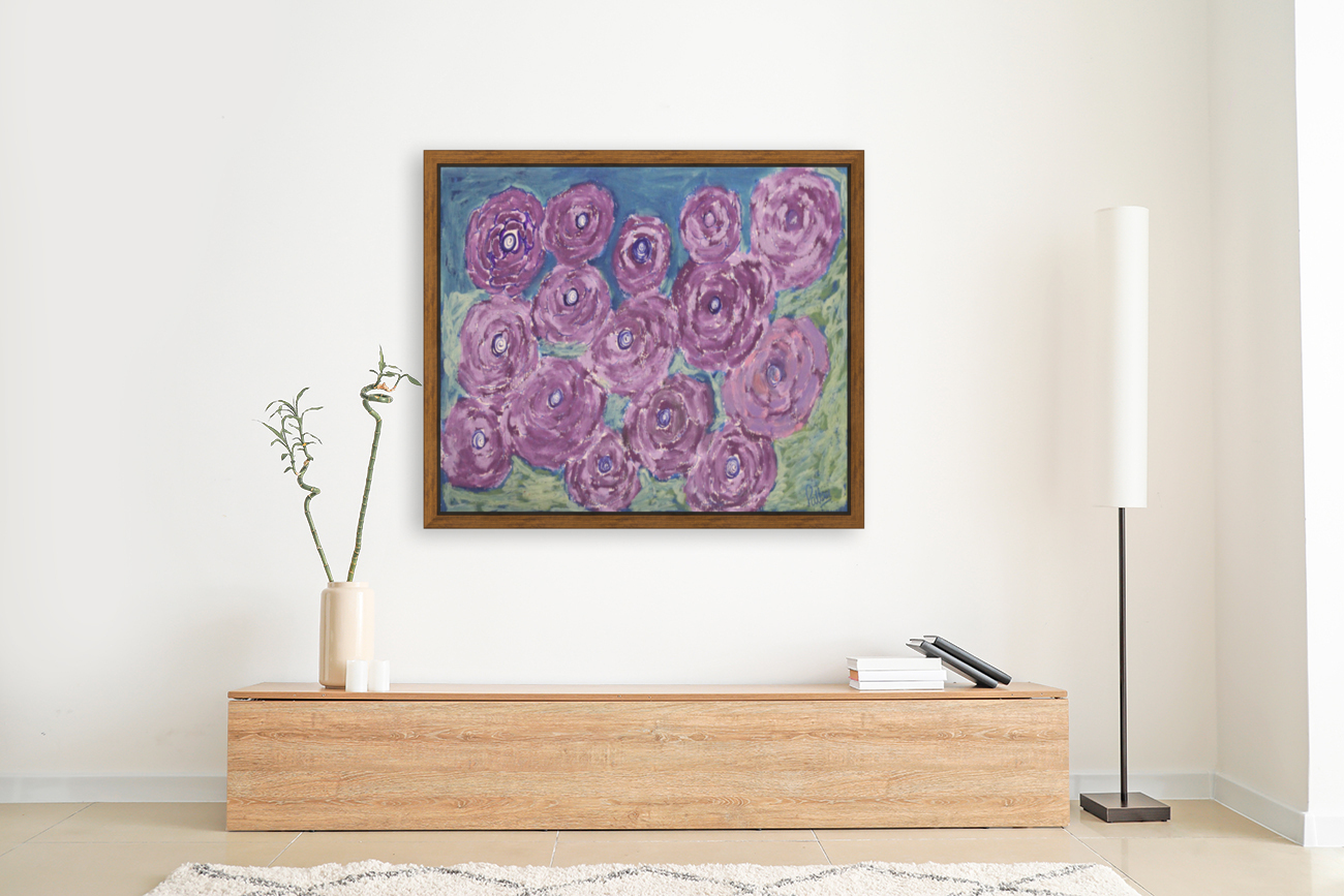Purple flowers  Art