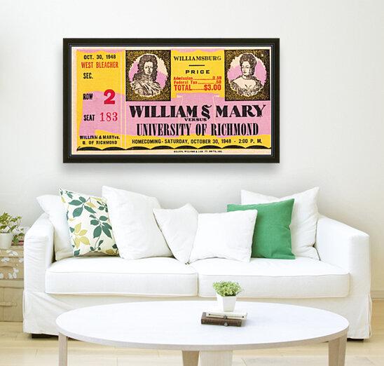 1948 William and Mary vs. Richmond  Art
