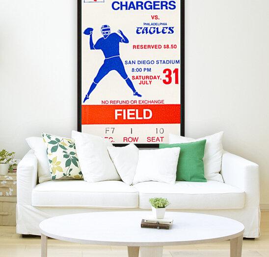 1976 San Diego Chargers vs. Philadelphia Eagles  Art