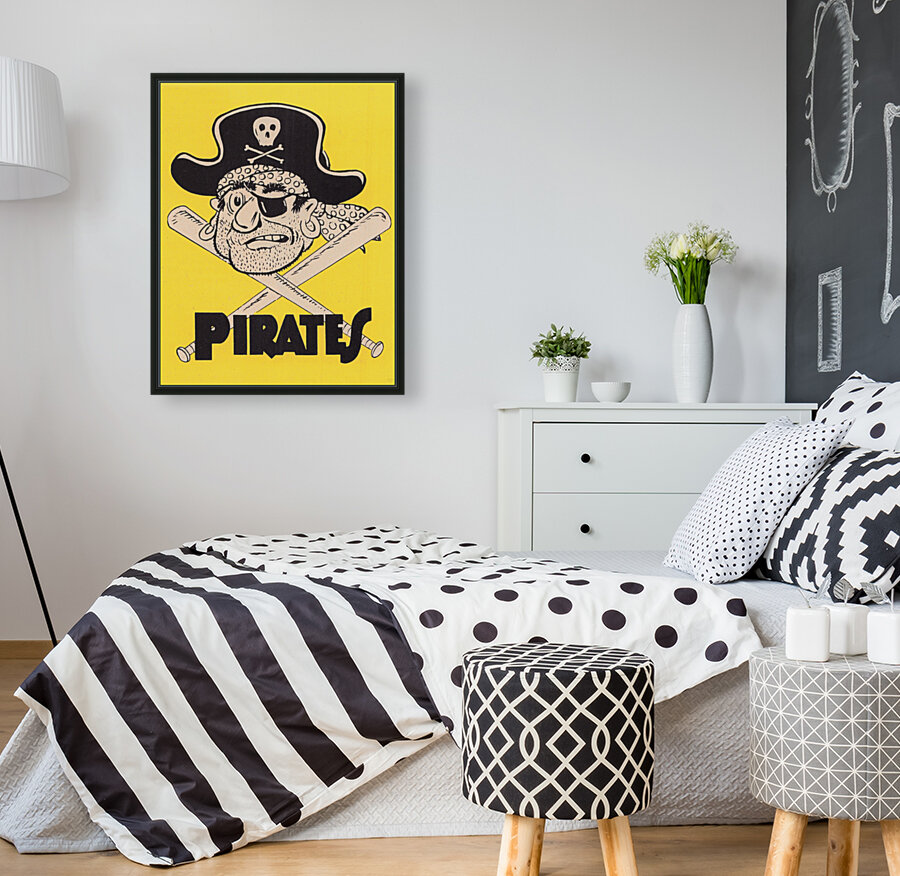 Vintage Sixties Pittsburgh Pirates Art  Art