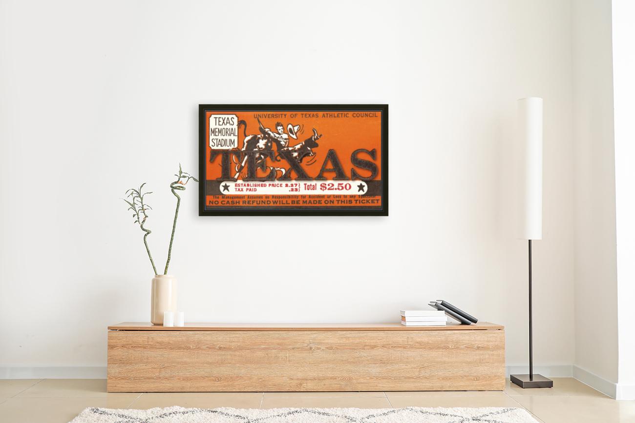 Vintage Thirties Texas Longhorn Football Ticket Remix Art  Art