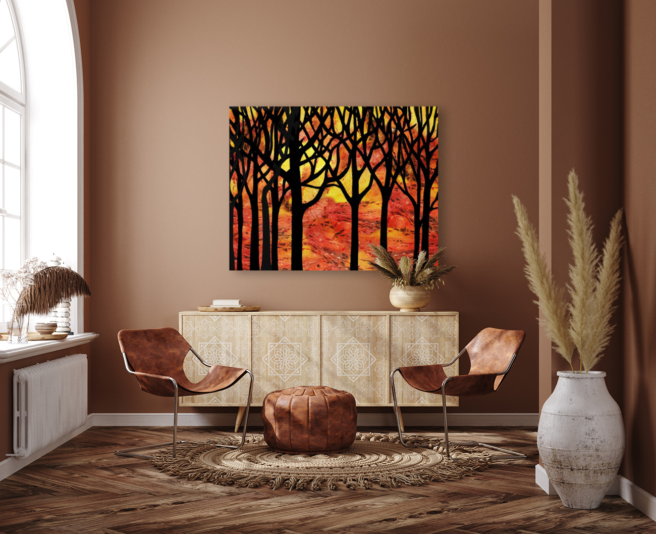 Abstract Fall Forest  Art