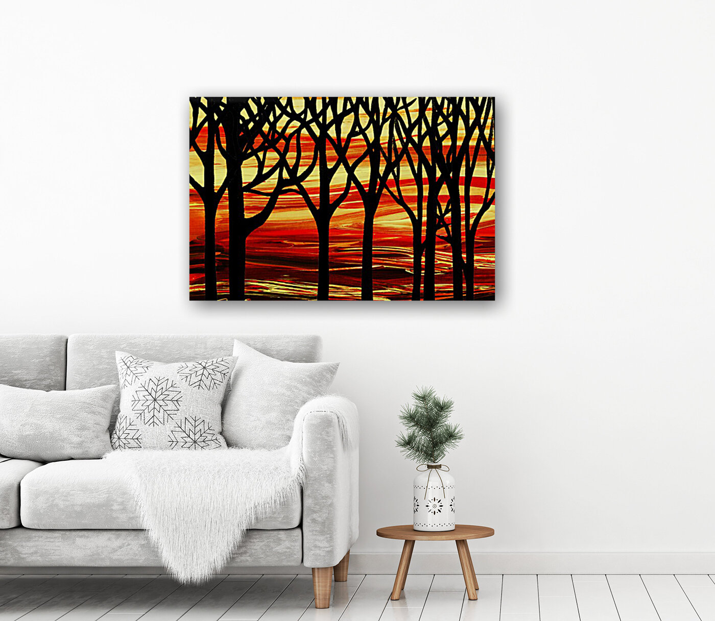 Indian Summer Abstract Forest  Art
