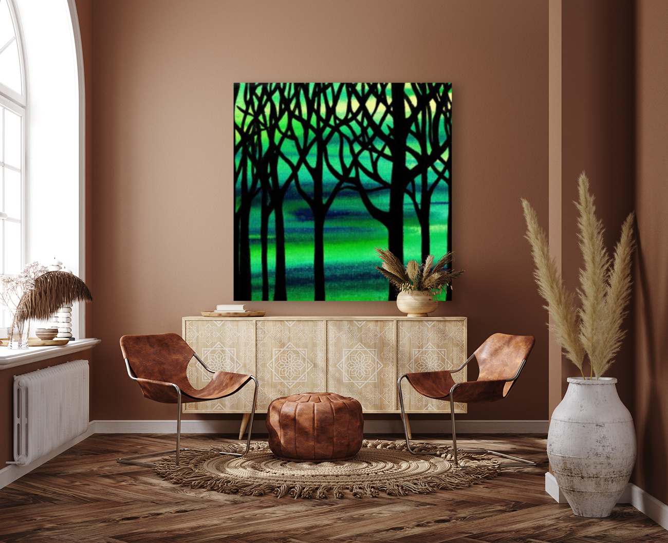 Abstract Spring Forest  Art