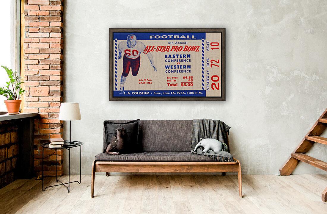 1955 Pro Bowl Football Ticket Stub Art  Art