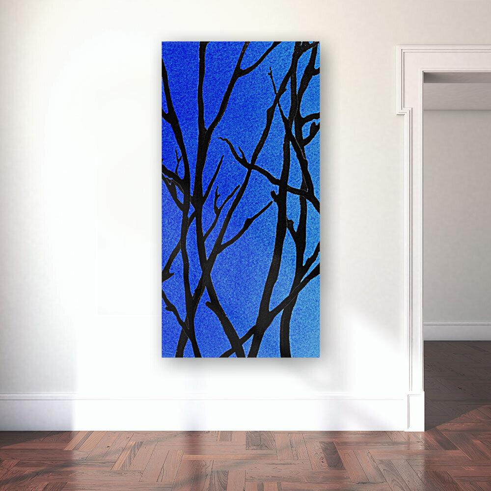 Ultramarine Forest Winter Blues I  Art