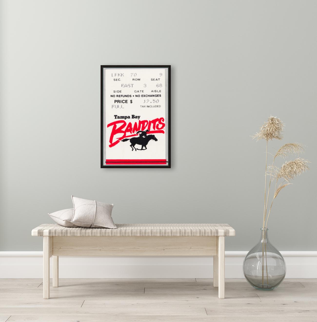 1985 Tampa Bay Bandits Ticket Stub Art  Art