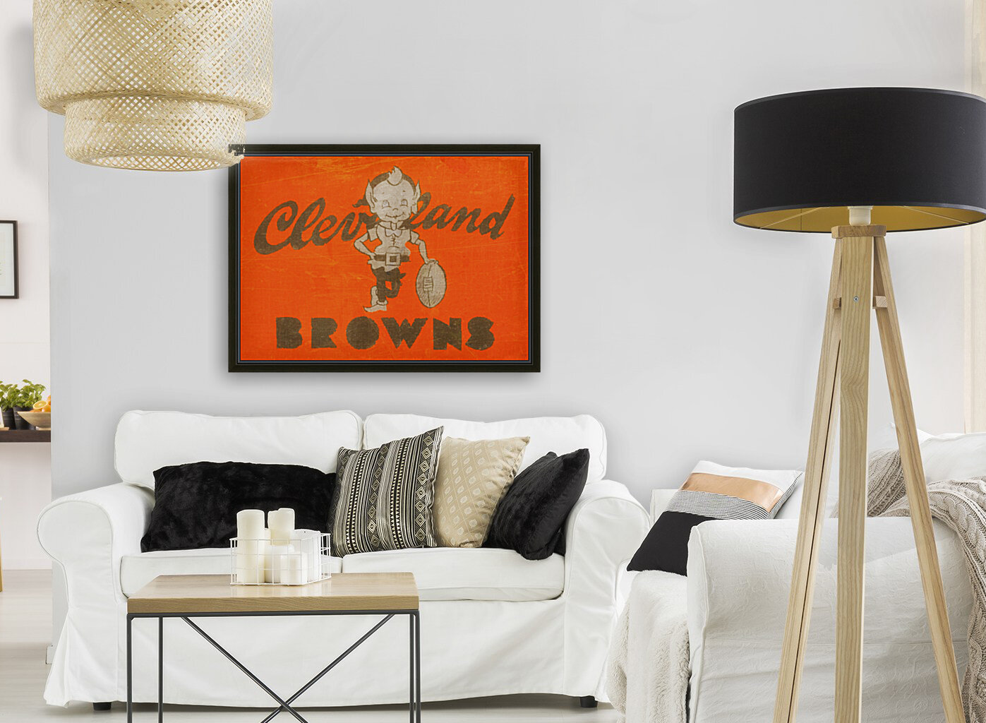 Vintage Cleveland Browns Wall Art  Art
