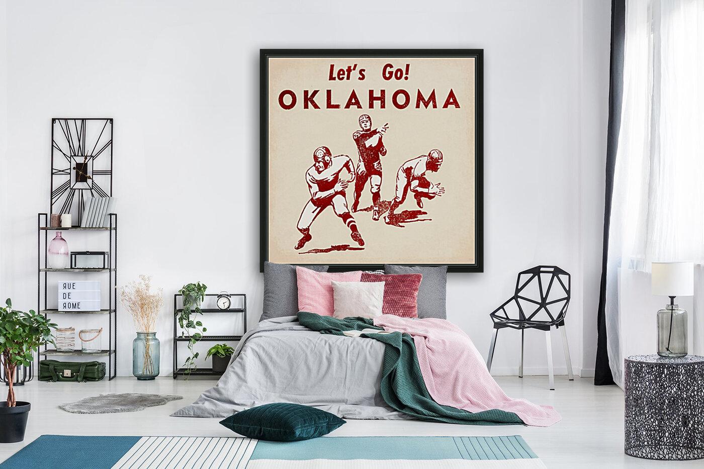 1952 Vintage Oklahoma Football Art  Art