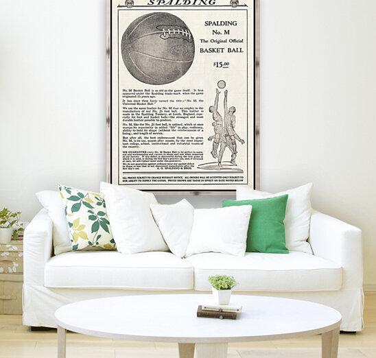 1921 Spalding Basketball Advertisement Poster  Art