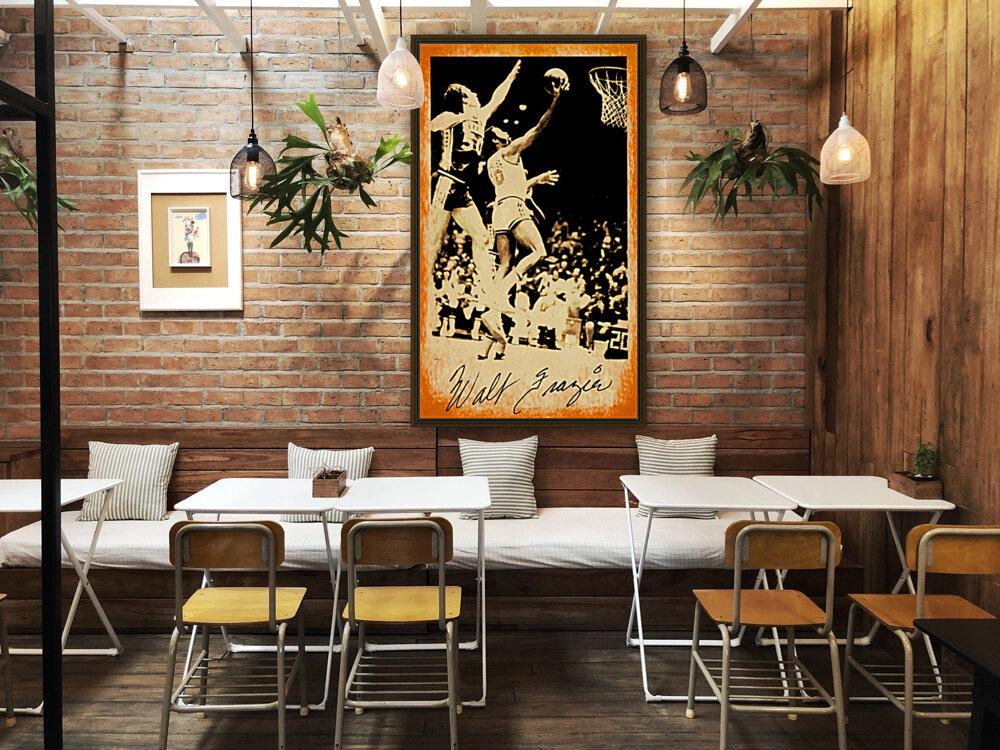 1976 New York Knicks Walt Frazier Art  Art