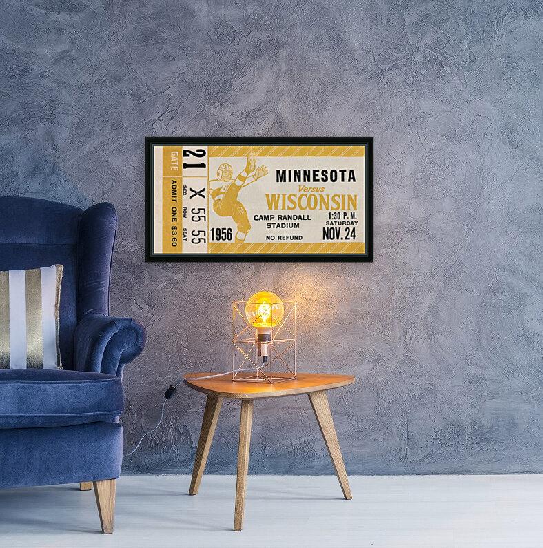 1956 Wisconsin Badgers vs. Minnesota Golden Gophers  Art