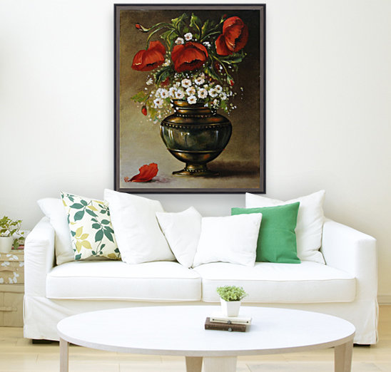 poppy bouqet by Vali Irina Ciobanu  Art
