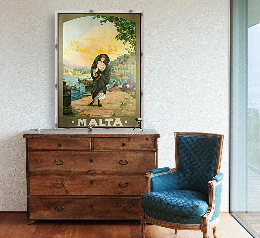 Original travel poster for Malta in 1900  Art