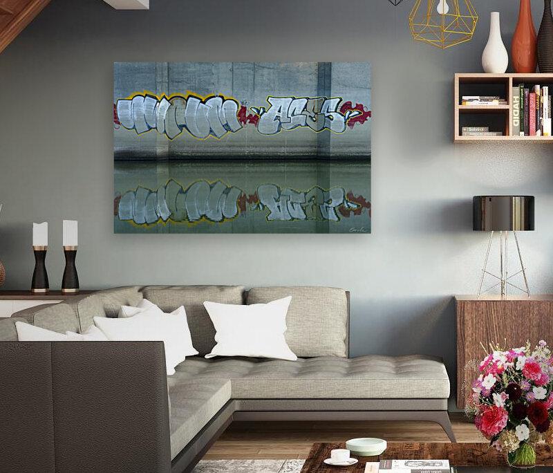 Reflet sous un pont - Reflection under a bridge  Art
