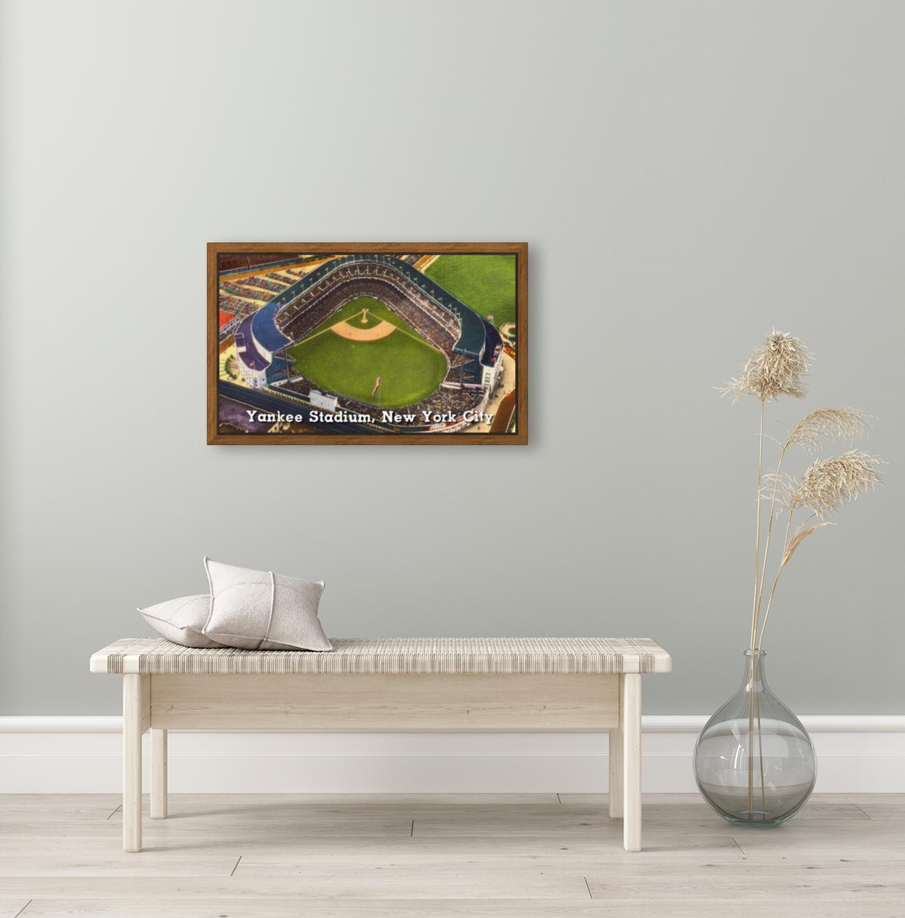 Vintage Yankee Stadium Postcard Art  Art