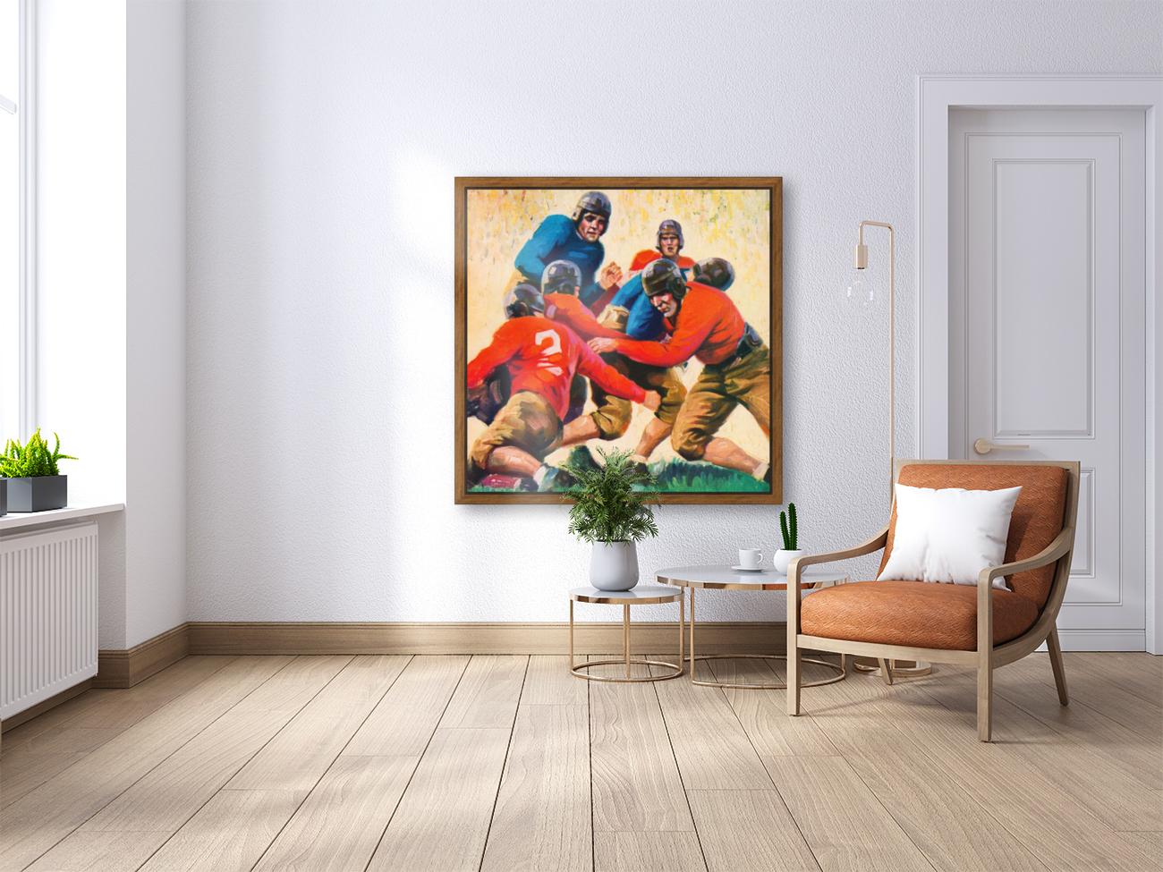1937 Vintage Football Art  Art