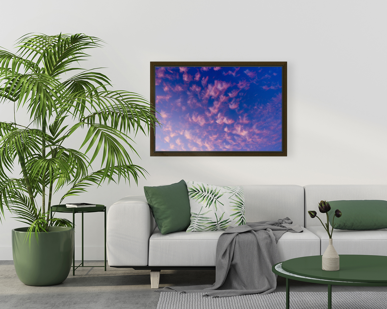Pink and White Cotton Candy Skies over the Pacific Northwest   Abstract Expressionist Robert Stanek Original  Art