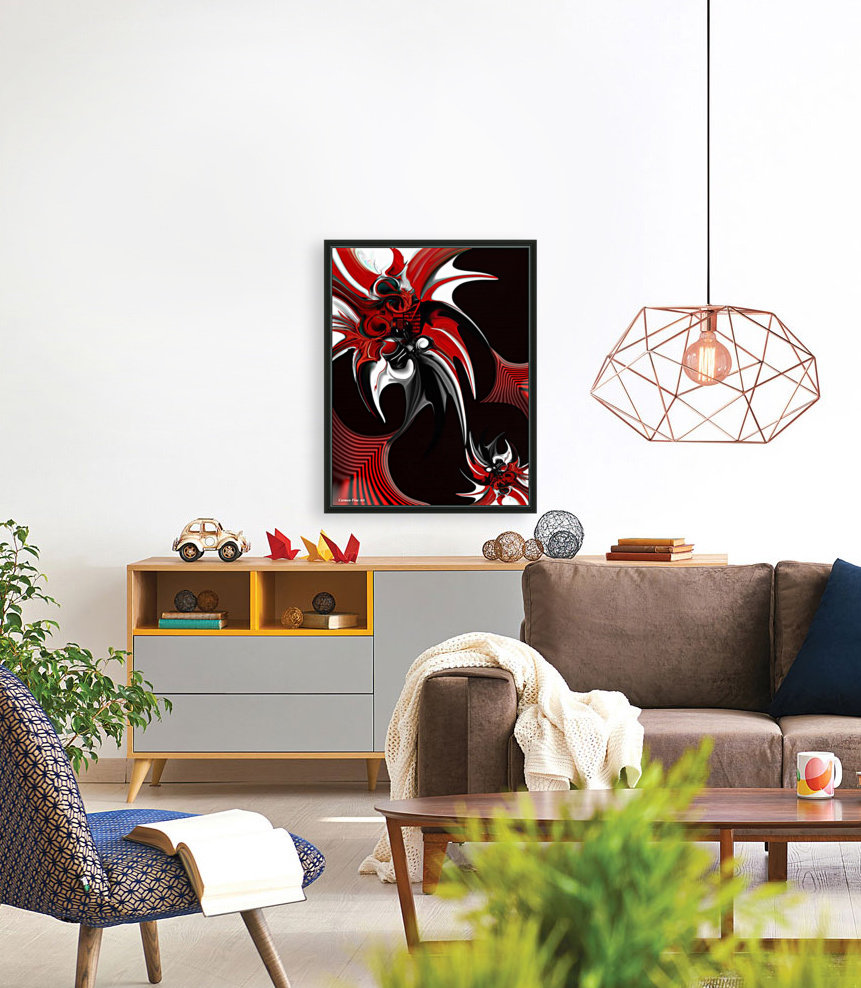 Red & Black Formation with Floating Frame
