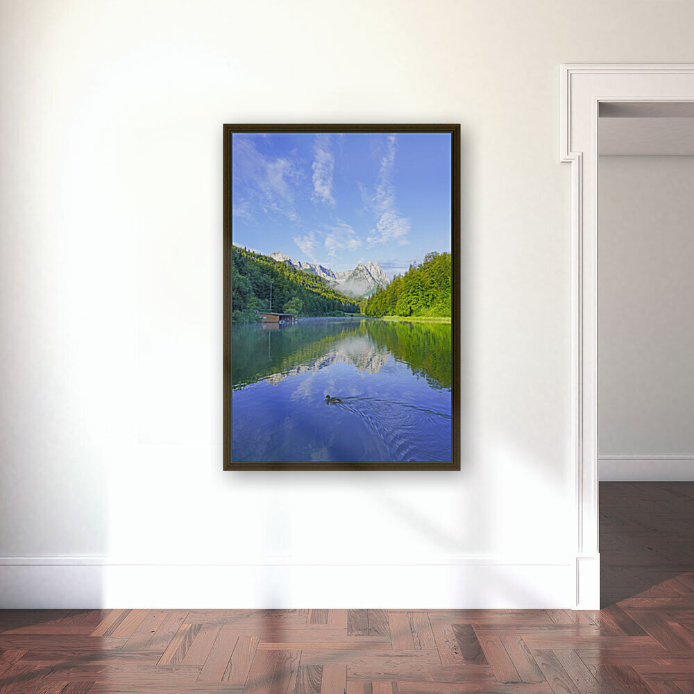 Blue Skies over the Riessersee in the Bavarian Alps near Garmisch Germany  Art