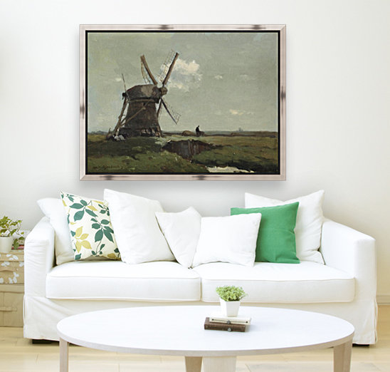 Windmill in a polder landscape, near Noorden  Art