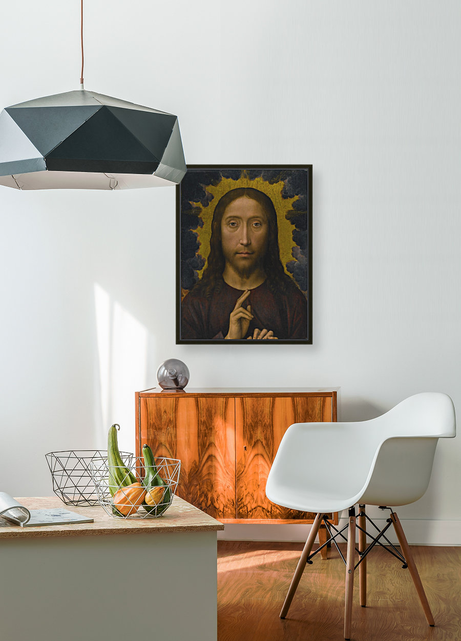 Christ Blessing with Floating Frame