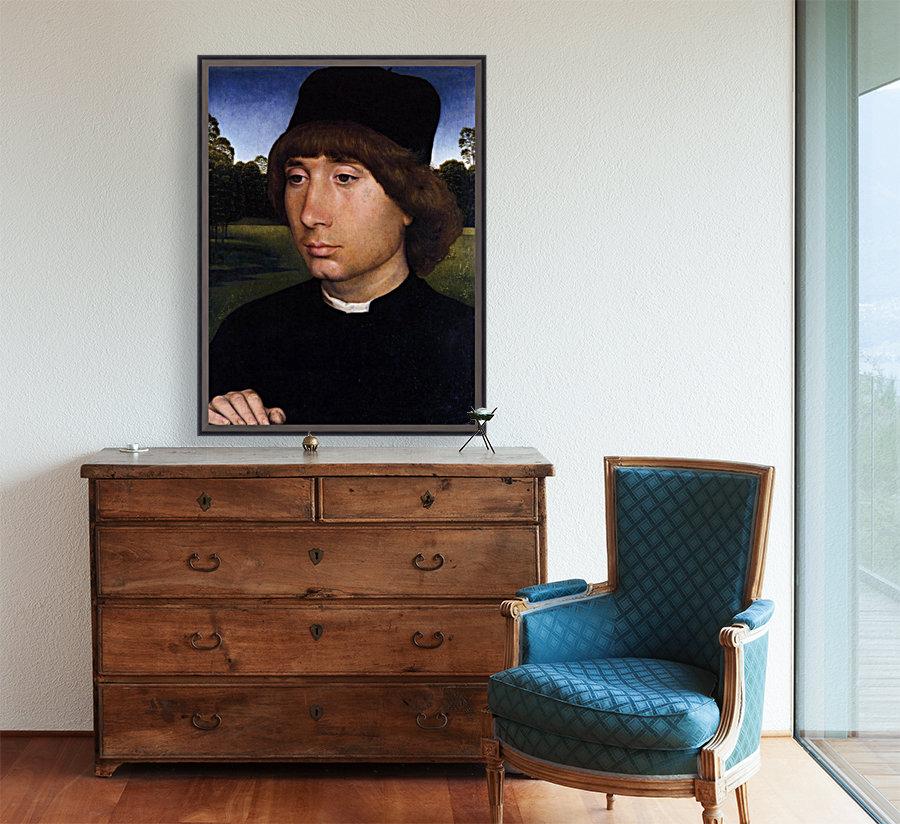 Portrait of a Young Man before a Landscape  Art