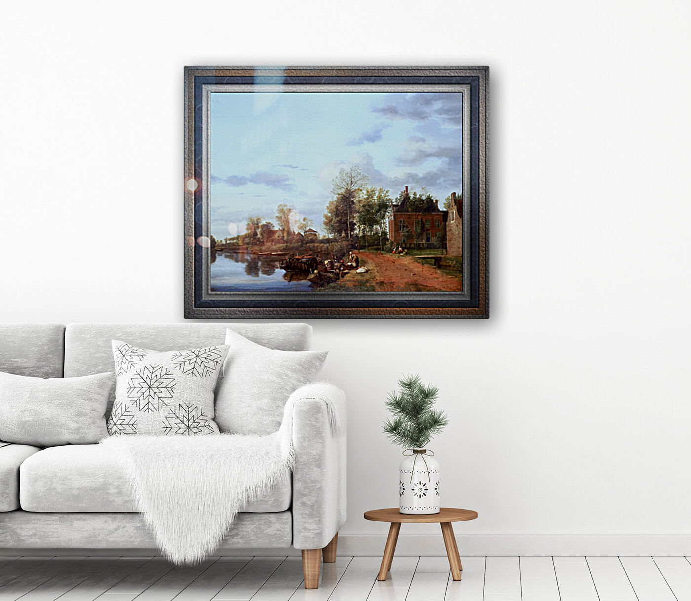 A Country House on the Vliet near Delft by Jan van der Heyden Classical Fine Art Xzendor7 Old Masters Reproductions  Art