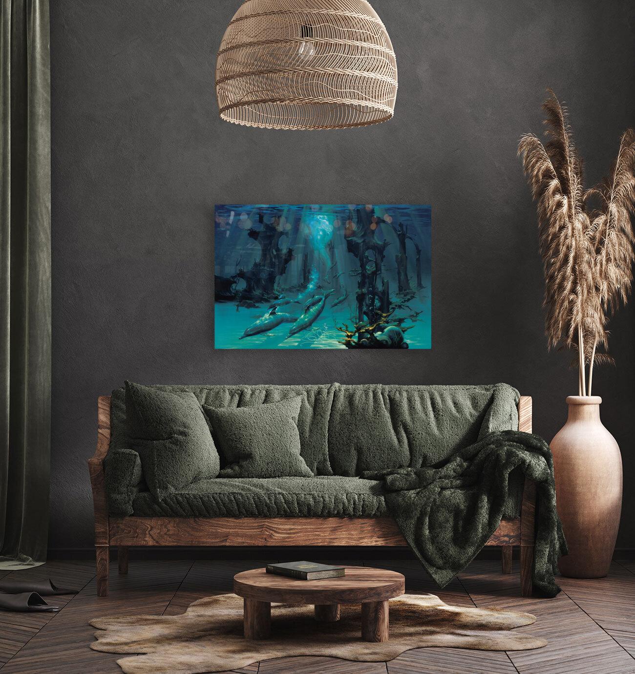 Atlantis Dolphins  Art
