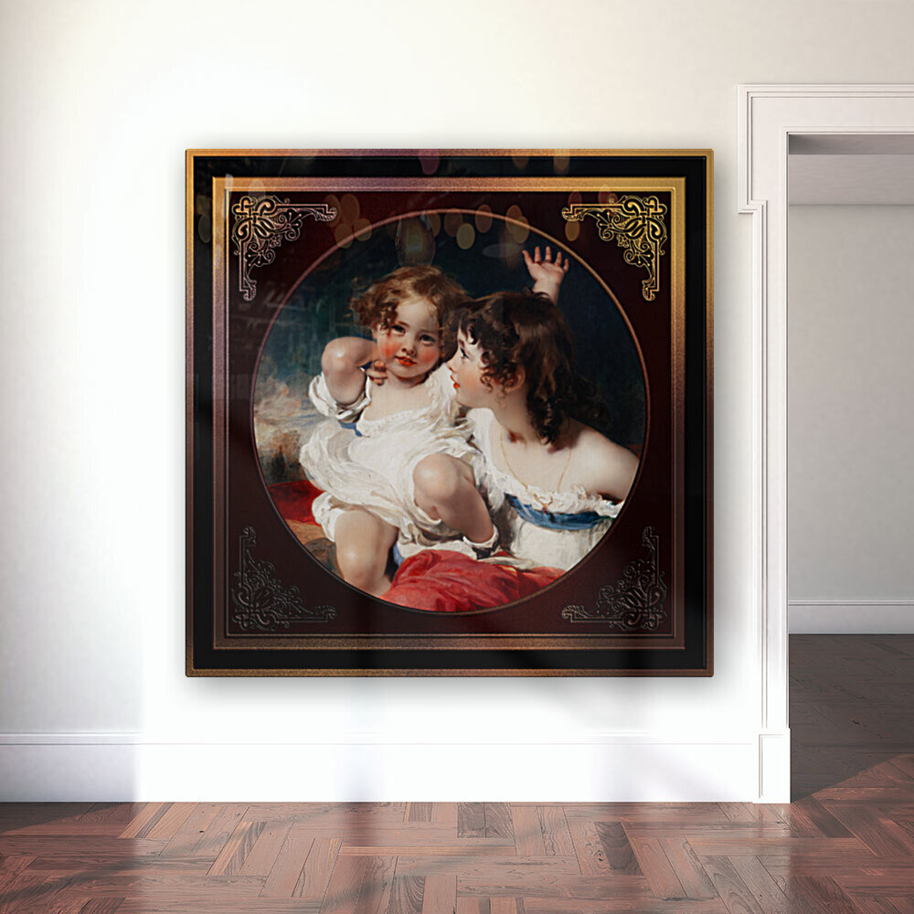 Nature - The Calmady Children by Sir Thomas Lawrence Classical Fine Art Xzendor7 Old Masters Reproductions  Art