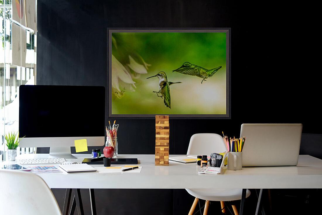 Emerald Hummingbirds  Art