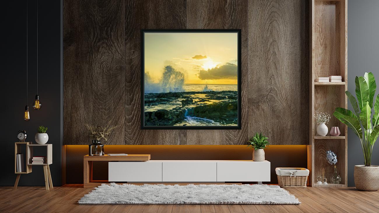 Waves Swirl at the Seaside Hawaii - Square  Art