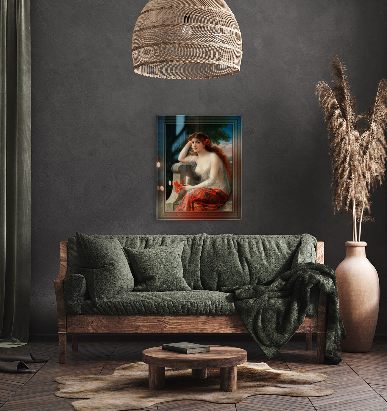 Girl with a Poppy byEmile Vernon Wall Decor Xzendor7 Old Masters Art Reproductions  Art
