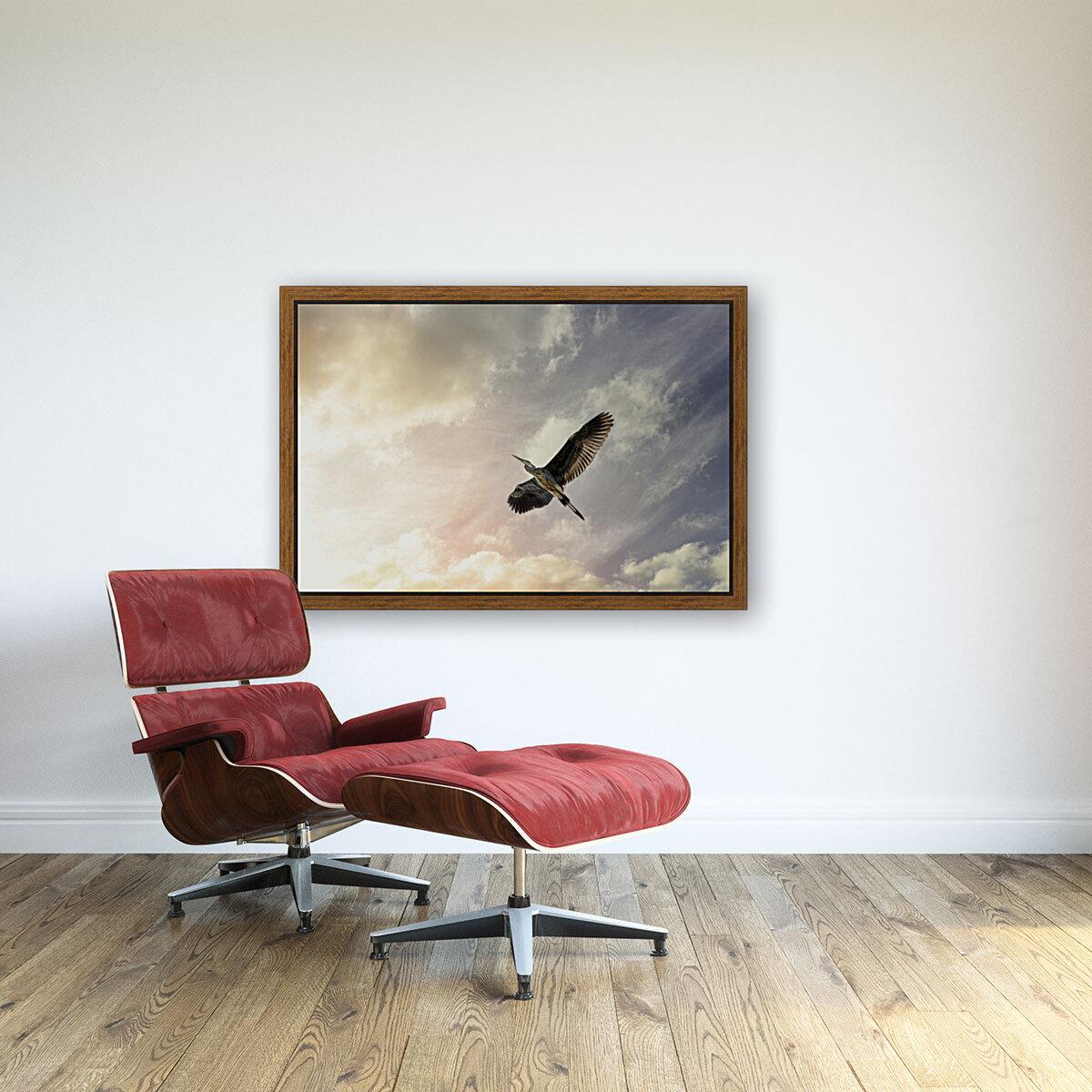 Heron Sunrise  Art