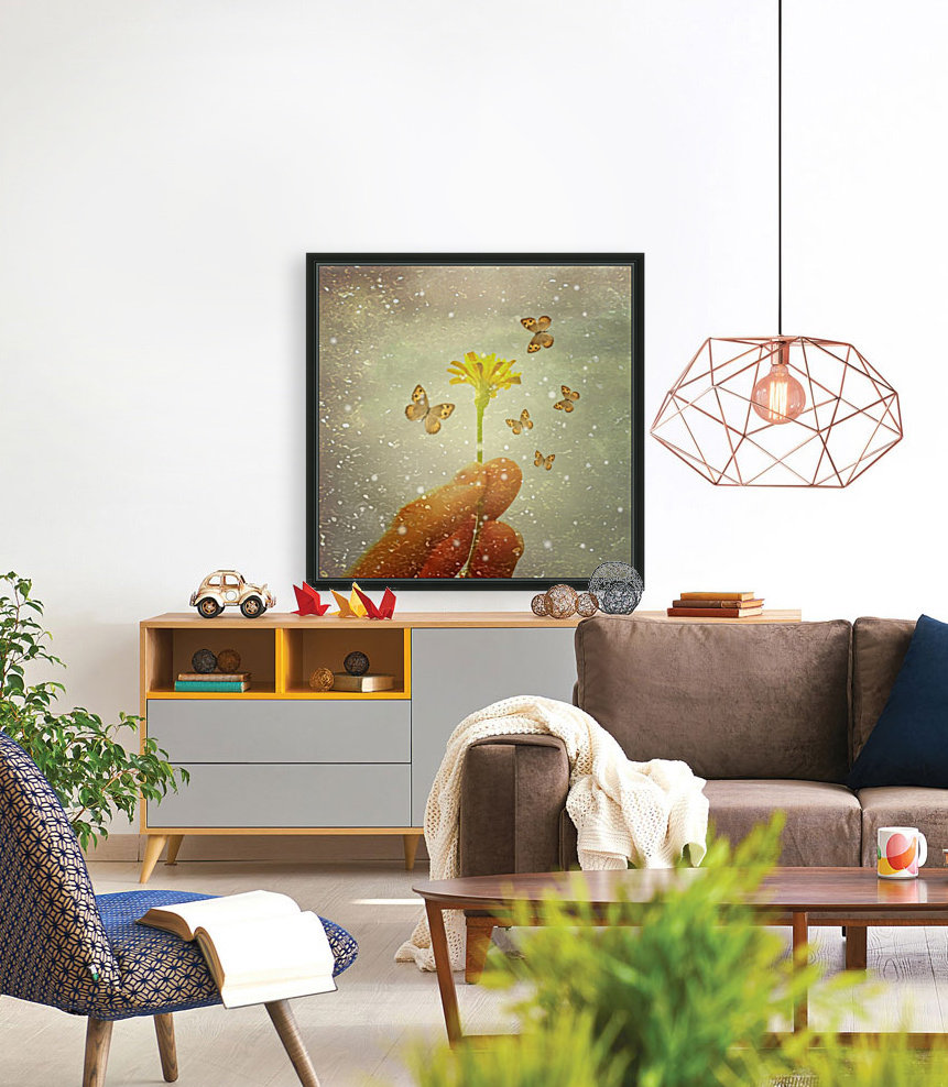 Butterflies Charmer with Floating Frame