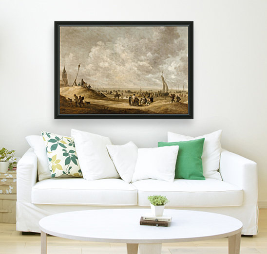 On the Beach at Scheveningen with Floating Frame