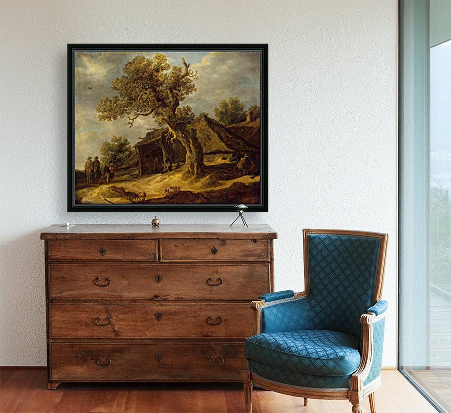 Landscape with Oak  Art