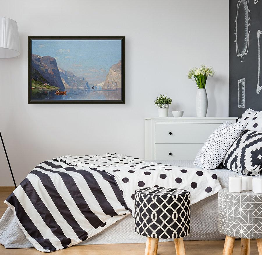 Two Norwegian Fjord Landscapes  Art